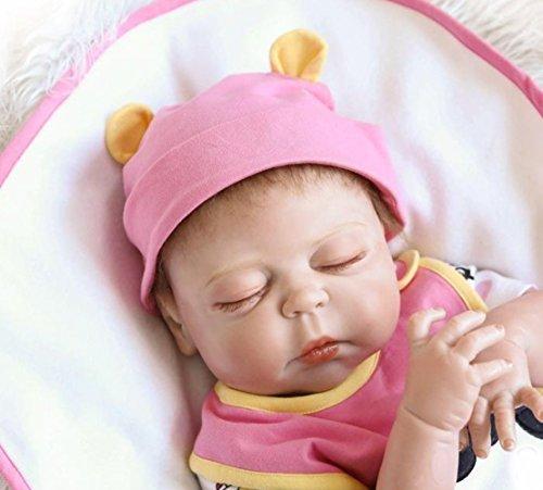 20 Pulgadas Gel de Sílice Completo Vinilo Reconstruir Muñecas 50cm Realista Recién Nacido A la Chica Regalos de Vacaciones Reborn Baby Reborn Doll