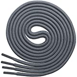 Miscly Lacci Scarpe Rotondi [3 Paia] Stringhe Scarpe Resistenti - Lacci Per Scarpe Da Ginnastica, Scarponcini E Stivali - Diametro 4 mm (91cm, Grigio)