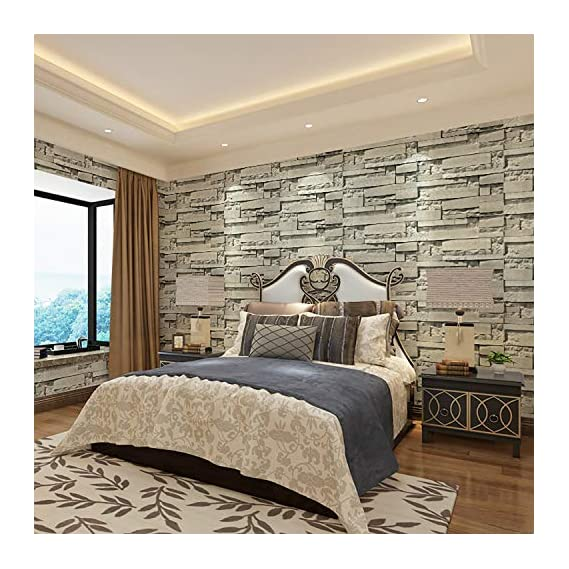 Luke and Lilly self Adhesive Wallpaper/Wall Sticker with Water Proof - Brick Wall Design (45cm X 500cm)