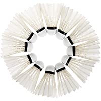 Zhuhaimei,12 Piezas de Entrenamiento de Pato Blanco Volantes Volantes Birdies Badminton Ball Sport(Color:Blanco)