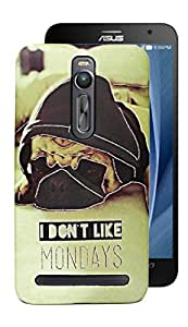ECellStreet Exclusive Limited Edition Night Glow Super Radium Hard Back Case Cover Back Cover For Asus Zenfone 2 ZE551Ml - D5