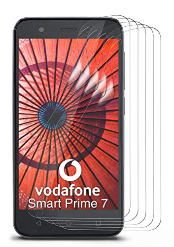 moex 5X Vodafone Smart Prime 7 | Schutzfolie Klar Bildschirm Schutz [Crystal-Clear] Screen Protector Display Handy-Folie Dünn Bildschirmschutz-Folie für Vodafone Smart Prime 7 Bildschirmfolie