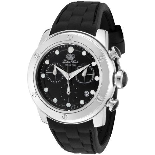 Glam Rock GR50129 - Reloj analógico de cuarzo unisex, correa de silicona color negro