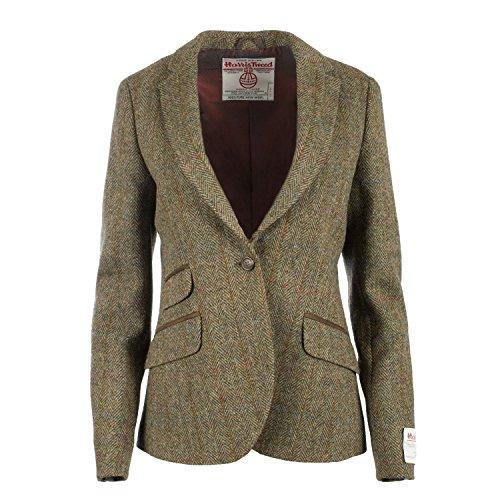 Harris Tweed Damen Jacke Gr. 44, C001T (Wolle Tweed-blazer)