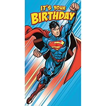 The superman birthday card amazon toys games its your birthday superman birthday card bookmarktalkfo Image collections