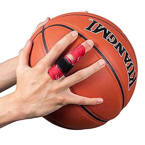 kuangmi Finger Sleeve Unterstützung Protector und Verletzungen beim Sport 1Stück, rot