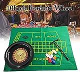 MRlegendary Set di fiches da Poker da 10 Pollici con Ruote da Roulette, Set di Ruote da Roulette per Feste, Giochi di Divertimento per Borad Giochi da Tavolo per Adulti per Bambini