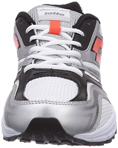 Lotto Sport Zenith V, Chaussures de course homme Multicolore - Mehrfarbig (WHITE/RED WAR)