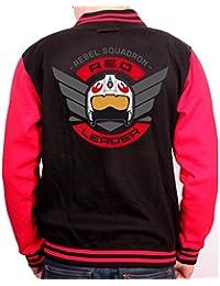 Star Wars Rogue One chaqueta de estilo universitario Jacke Red Leader negro