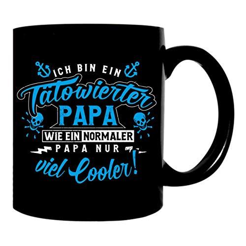 Kaffeetasse Geschenk Becher Tätowierter Papa