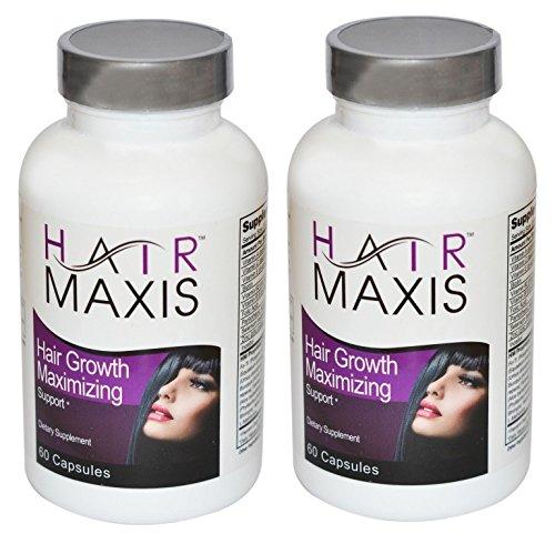 2 bouteille de Maxis cheveux Supplément soutien plus rapide de perte de croissance saine des cheveux plus doux Arrêts (Hair Maxis)