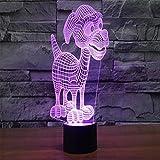 Ilusión 3d luz–Toproad LED noche luz 3d mesa/lámpara de mesa dormitorio deco escultura de arte de la luz cambiante única luz