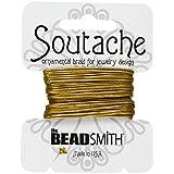 Beadsmith soutache Rayón Cordón 3mm de ancho dorado antiguo 3YD