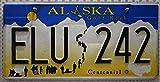 USA Nummernschild ALASKA ~ US Kennzeichen ~ Thema Goldrausch ~ Blechschild