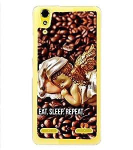 Fuson Designer Phone Back Case Cover Lenovo A6000 Plus :: Lenovo A6000+ :: Lenovo A6000 ( Angel On Coffee Beans )