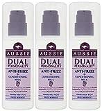 Aussie Double Personality Anti Frisottis sans Rinçage Après-shampooing Lait (Paquet de 3) 150 Ml Chaque