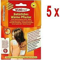5 x Wundmed Wärmepflaster, Hypoallergen Wärmetherapie Pflaster - 1 Stück (13 x 9,5 cm) preisvergleich bei billige-tabletten.eu
