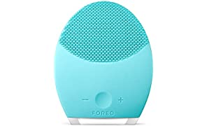 FOREO LUNA 2 Facial Brush and Anti-Aging Face Massager, Aquamarine