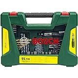 Bosch DIY 91tlg. Bohrer- und Bit-Set V-Line Titanium zum Bohren und Schrauben in Holz, Stein und Metall