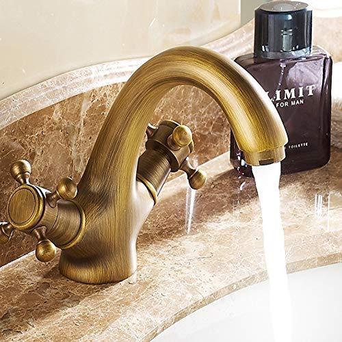 ZHANGZHIYUA Waschbecken Wasserhahn Low-Lead Messing Low-Arc Zwei-Griff verbreitet