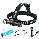 Olight® H2R Nova 18650 LED Stirnlampe Kopflampe Taschenlampe aufladbar mit CREE XHP50 LED Max 2000 Lumen,1 x 18650 3000mAh Akku, Neutralweiß