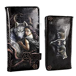 Anne Stokes Soul Bond Wolf Embossed Purse