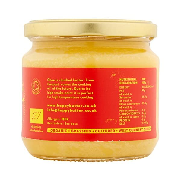 Happy Butter Organic Artisan Ghee, 300g 3