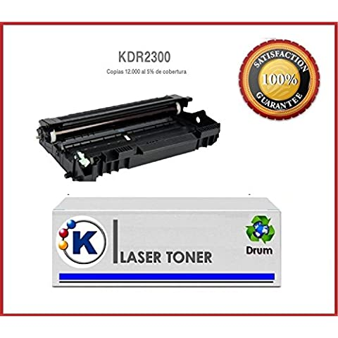 KDR-2300 Tambor Compatible - Reemplaza a Brother DR-2300 - para uso en Impresoras Brother DCP-L2500D, DCP-L2500, DCP-L2520DW, DCP-L2540DN, DCP-L2700DW- Envio desde Madrid
