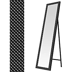 Espejo de pie moderno negro de plástico para dormitorio de 37 x 157 cm Factory - Lola Home