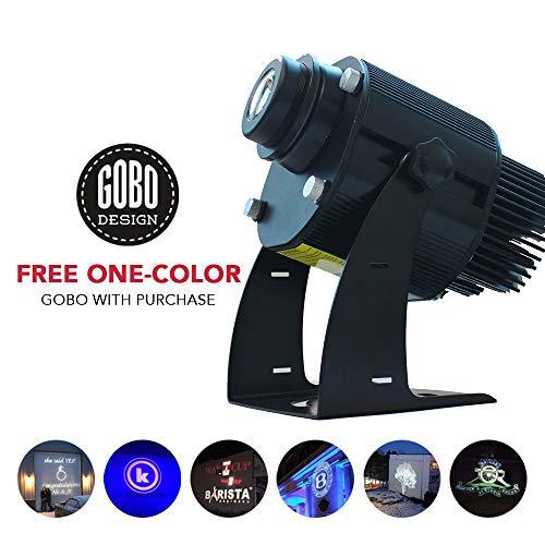 Sunwebcam instagobo led gewohnheit bildgobo logo-projektor-licht mit manuellem zoom und fokus customized gobos 40w (im freien) schwarz