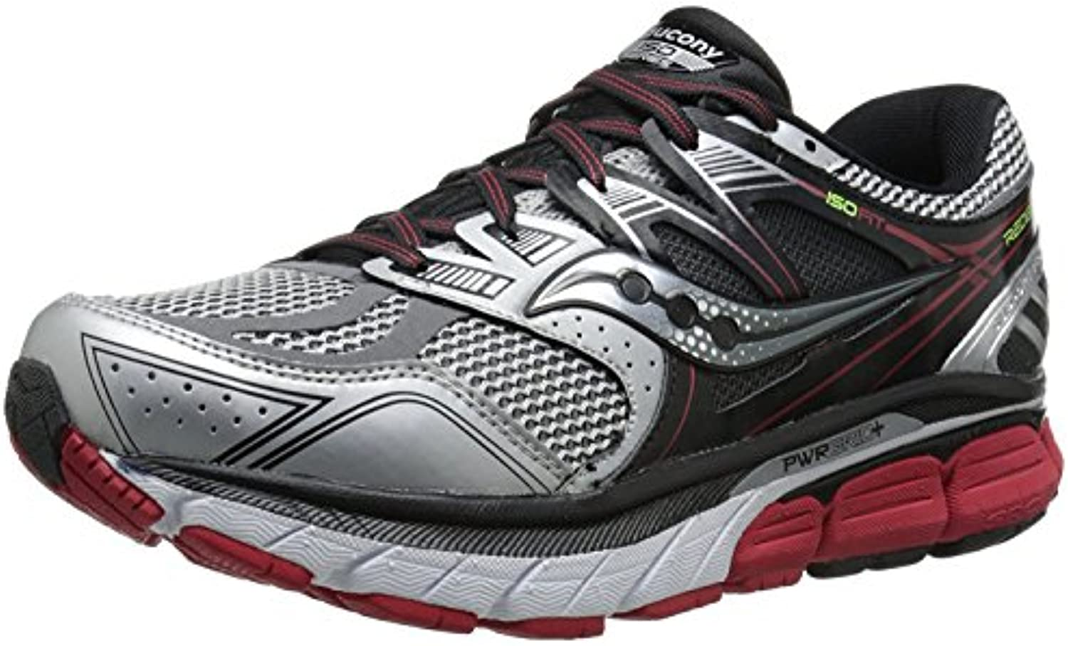 Saucony Men's Redeemer ISO Road Running Shoe  Silber/Schwarz  44.5 3E EU/9.5 3E UK
