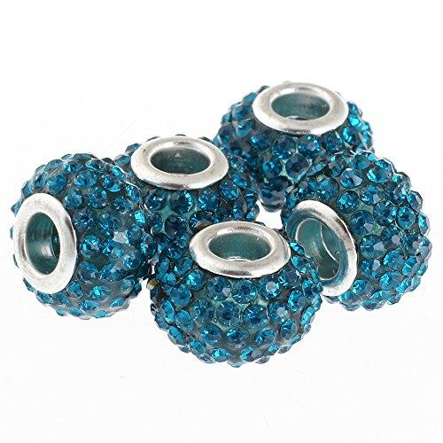 rubyca 15mm Big Loch Kristall Charme Perlen für europäische Charm-Armband, Indigolith, 20 Stück Disney Mickey-dollar