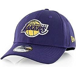 Nueva Era Hombres de la NBA equipo 9FORTY los angeles lakers producto oficial equipo color gorra de béisbol, color morado, talla única