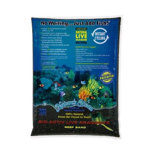 Nature`s Ocean bio-activ Live Aragonit Beach Live Sand für Aquarium, 10-pound, schwarz (Reef Live Sand)