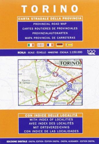 Torino. Carta stradale della provincia 1:150.000 (Carte stradali) por Litografia Artistica Cartografica (LAC)