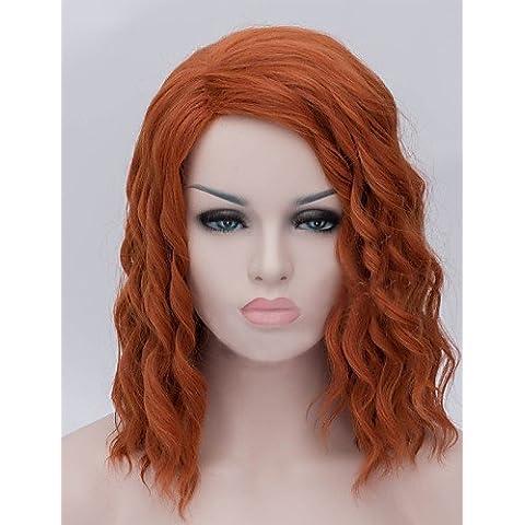 pelucas de la manera conveniente y cmodo la moda europea americana plancha de pelo marrn peluca