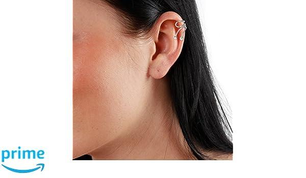 SilberDream Ohrklemme Kugeln Ear Cuff 925 Sterling Silber Fake Piercing SDO8875J