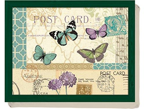 Creative Tops Tablett/Laptop-Ablage mit Bohnenkissen, Postkarten-Motiv, mehrfarbig