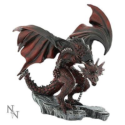 Nemesis Now Golnar Chained Red Dragon 21cm Figurine Ornament Statue Alator Range