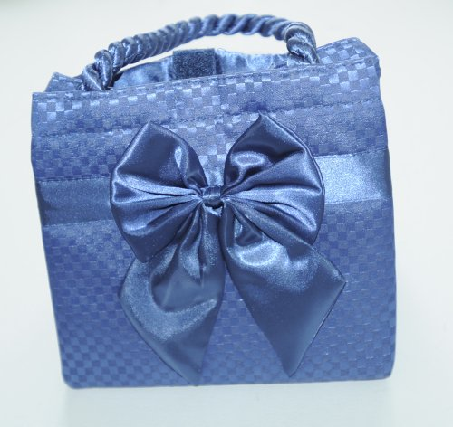 naraya-bag-blue-bow-satin-shoulder-tote-bag-cool-and-stylish-summer-bag-made-from-special-cotton-fab