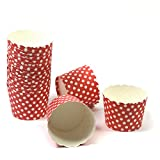 50 Frau Wundervoll Muffin Backformen aus stabilem Papier - rot mit weißen Punkten, klein Ø 5 cm – Muffinförmchen / Cupcake Backformen / Muffindeko aus stabilem Papier