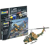 Revell 64954–Maqueta de helicóptero 64954Set 1: 100–Bell Ah de 1G Cobra en Escala 1: 100Niveles, 3, orgin Algas fidelidad imitación con Muchos Detalles, helicóptero de
