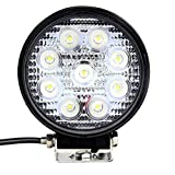 #8: Vheelocityin 9 Led Circle Cree Auxillary Car Fog Lamp 27W Set of 2