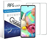 AFGLOOY 2Pack, Screen Protector Compatible with Galaxy A71, Tempered Glass for Samsung Galaxy A71, 9H Hardness