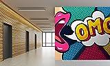 Papier Peint Auto-Adhésif   Photo Mural Les Comics Omg   500 x 300 cm   Décoration muraux de Chambre , Couloir , Salon, Salle de Sport Ecole salle à manger ...   Revêtement Mural Art Design Décor Élégant