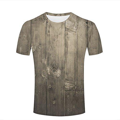 qianyishop 3d Print T Shirts Gray Black Wood Floor Graphics Men Women Couple Fashion Tees