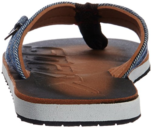 Sparx Men's Brown and White Flip-Flops and House Slippers - 9 UK/India(43.33 EU)(SF0037G)