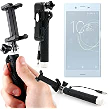 DURAGADGET Palo Selfie (Selfie-Stick) para Smartphone Sony Xperia XZs , XZ Premium , XA1 , XA1 Ultra / Denver SDQ-55024L , SDQ-50002G , SBQ-50011G / Crosscall Trekker-X3 , Trekker-M1 Core