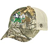 Top of the World NCAA Notre Dame Fighting Irish Men's Camo Stock Adjustable Mesh Icon Hat, Real Tree