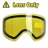 Amarillo-lente, de Doble Lente Cilíndrica, Contra Arañazos y Anti - Niebla, Para Hombres y Mujeres de Esquí / Snowboard - 100% Contra UV